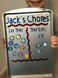 Magnetic Chore Chart Buttons Diy Magnetic Chore Chart