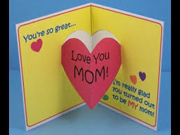 Mothers Greeting Card Mothers Day Special Craft Greeting Card Project Ideas For Kids