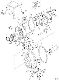 Gimbal housing integrated transom