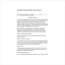 6+ Simple Partnership Agreement Templates, Samples And Examples ...