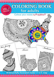 Small Picture Adult coloring book USA Travel Map Coloring book for adults
