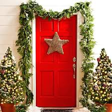 L Christmas Front Door A Touch Of Starlight Decor  Garland Uk