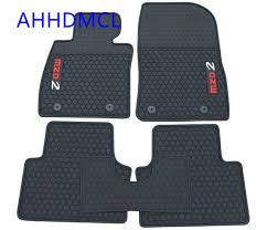 Car Rubber Floor Mats Anti Slip Mat Carpets Feet Pad For Mazda 2