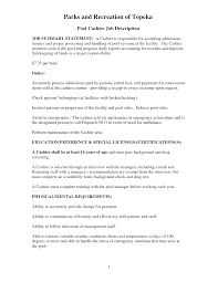 Luxurious And Splendid Cashier Job Description Resume Berathen Com