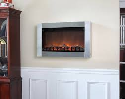 moderna stainless steel wall mounted electric fireplace