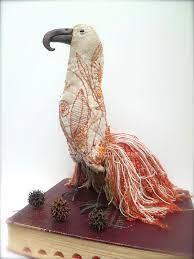 Graciela, fiber art bird soft sculpture, mixed media, collectible, home  decor, ooak, hand stitched, free sty…   Soft sculpture, Textile art, Hand  embroidery designs