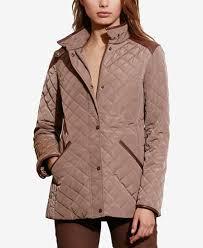 Lauren Ralph Lauren Faux-Leather-Trim Quilted Jacket, Created for ... & Lauren Ralph Lauren Faux-Leather-Trim Quilted Jacket, Created for Macy's Adamdwight.com