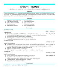 Front Desk Associate Sample Resume Cool Curriculum Vitae Samples For Receptionist Position Resume Examples
