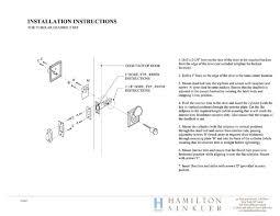 Instructions  Hamilton Sinkler - Exterior door thickness