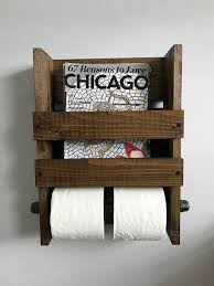 wall mount magazine rack toilet. Magazine And Double Toilet Paper Holder Rustic, Wall Mounted TP Holder, Rustic Wood Rack Mount N