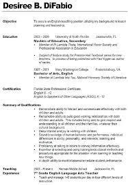 Teaching Resume Format Format For Teacher Resume Resume Example