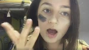 screenshot from hannah laskow defore s camo makeup tutorial