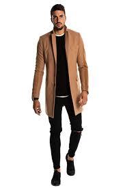 men beige overcoat