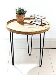 side tables round wooden side table 3 legged bedside tables end three round wooden