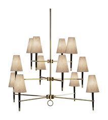 robert abbey 674 jonathan adler ventana 12 light 54 inch ebonyed wood with antique brass chandelier ceiling light in ebony wood w antique brass