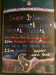 Tide Chart Tomorrow Remember We Will Be Closing At 10pm Tonight For New Years