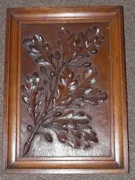 antique english quality carved oak