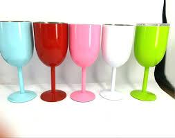 colored plastic wine glasses colored plastic wine glasses bulk acrylic wine glasses with colored stems