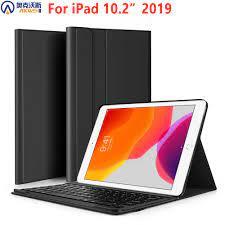 Kablosuz klavye durumda Ipad 10.2 klavye Funda Apple Ipad 7th nesil A2200  A2198 A2197 Bluetooth klavye|Tablets & e-Books Case