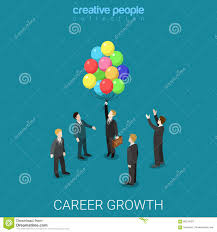 career growth job change headhunting flat isometric vector d career growth job change headhunting flat isometric vector 3d