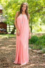 That S A Total Summer Maxi Dress Coral The Mint Julep Boutique