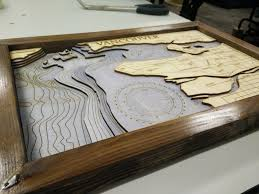 Wood Bathymetric Charts Make Laser Cut Bathymetric Maps 4 Steps With Pictures