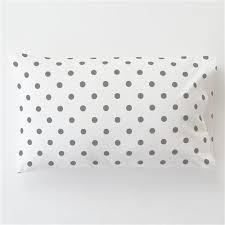 Polka Dot Pillowcases Inspiration White And Gray Polka Dot Toddler Bed Pillow Case Carousel Designs