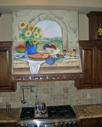 Kitchen Wall Mural Kitchen Exciting Kitchen Decoration Using Farm Tile Kitchen Wall