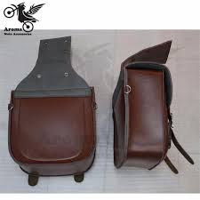 2 colors brown black durable motorcycle motorbike pu leather motorcycle saddlebags saddle bags pouch fit for
