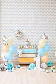 Ofila 1st Birthday Boy Backdrop 3x5ft 1st Baby Boy Birthday