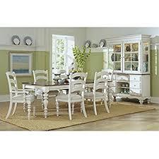 hilale furniture 7 pc wooden dining set