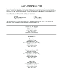 How To Do A Reference Page For A Resume Unique Reference Page On Resume Template R Job List Ideas Sample Personal