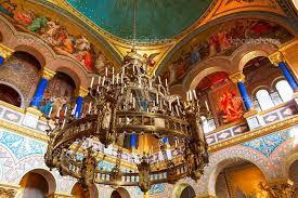 beautiful chandelier inside the neuschwanstein castle
