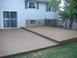composite decking over concrete patio