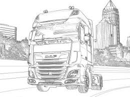 Kleurplaat Vrachtauto Daf Vrachtwagens Kleurplaten Kleurplaten Eu