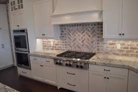 red brick kitchen backsplash view full size