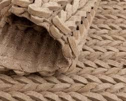 beige braided wool rug natural indian