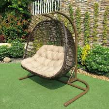double hammock chair with stand hanging outdoor furniture