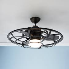 industrial cage lighting. Industrial Cage Ceiling Fan Iron Lighting O
