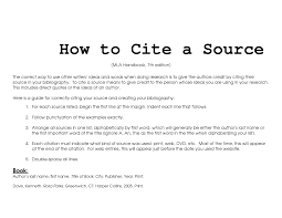 Citing Sources In Mla Style Enc1102libraryinstruction Libguides