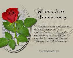 1st wedding anniversary messages wordings and messages Wedding Anniversary Message 1st wedding anniversary messages and cards 05 \u201c wedding anniversary messages for husband