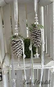 Fensterdeko Weihnachten Zapfen Withe Wash 15 Cm Sterne