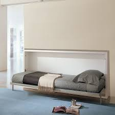 The Poppi is a horizontally opening, space saving wall bed. This murphy bed  system is available in single or intermediate sizes