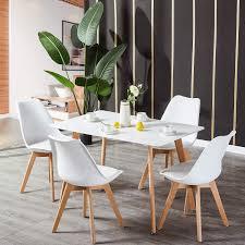 Modern Rechteck Esstisch Und 4er Retro Esszimmerstühle Esstisch
