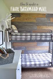 how to make a faux barn wood wall via makeit loveit