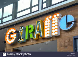 Logo Stand Light Giraffe Restaurant Sign Clever Use Of Colour And Light