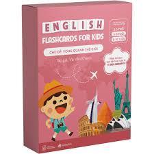 Flashcards - Bộ thẻ học Tiếng Anh chủ đề Vòng quanh thế giới - Dành cho trẻ  6-10 tuổi tại Hà Nội