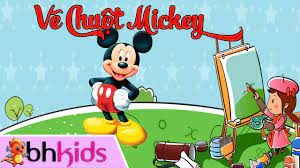 Hướng Dẫn Vẽ Chuột Mickey - How To Draw A Mickey Mouse - YouTube