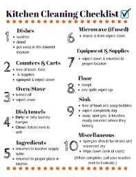 cleaning checklist kitchen cleaning checklist for fcs labs by alison thompson tpt