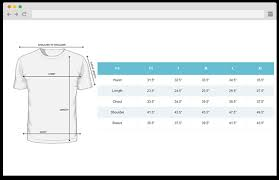 Magento 2 Size Chart Extension Size Chart
